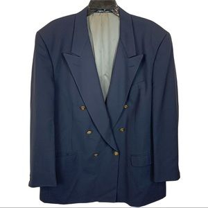 Christian Dior Monsieur Vintage Double Breasted Blazer in Black Size 16